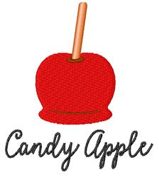 Candy Apple embroidery design