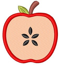 Apple Slice embroidery design