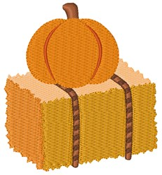 Pumpkin Hay Bale embroidery design