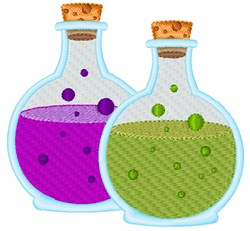 Witch Potions embroidery design