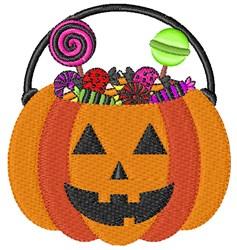 Candy Pumpkin embroidery design