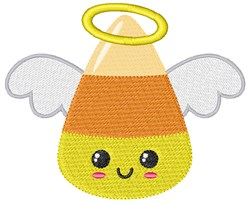 Candy Corn Angel embroidery design