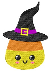Candy Corn Witch embroidery design