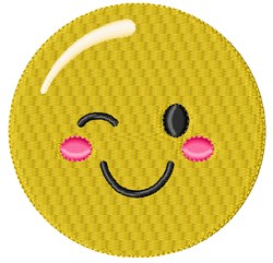 Wink Smiley embroidery design