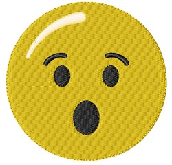 Surprised Smiley embroidery design