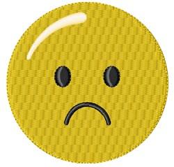 Sad Smiley embroidery design