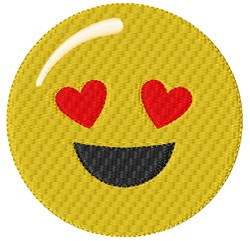 Love Smiley embroidery design
