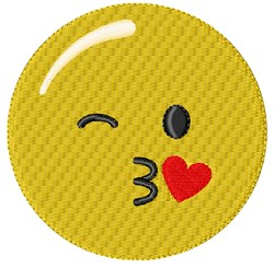 Kiss Smiley embroidery design