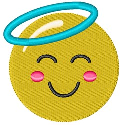 Angel Smiley embroidery design