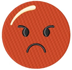 Angry Smiley embroidery design