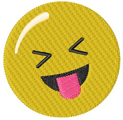 Tounge Out Smiley embroidery design