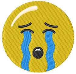 Crying Smiley embroidery design