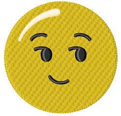 Sly Smiley embroidery design