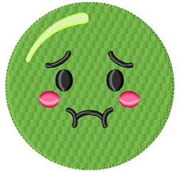 Sick Smiley embroidery design