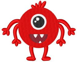 Big Eye Monster embroidery design