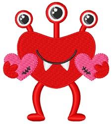 Valentine Monster embroidery design