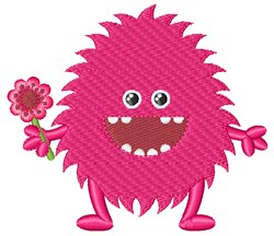 Pink Monster embroidery design