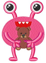 Teddy Bear Monster embroidery design
