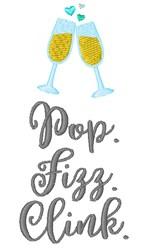 Pop Fizz Clink embroidery design