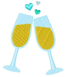 Wedding Toast embroidery design