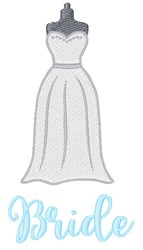 Bride Gown embroidery design