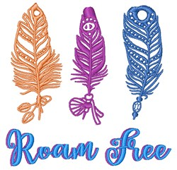 Roam Free embroidery design