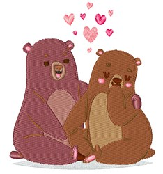 Valentines Day Bears embroidery design