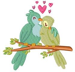 Valentines Day Birds embroidery design