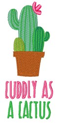 Cuddly As A Cactus embroidery design