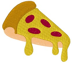 Pepperoni Pizza embroidery design