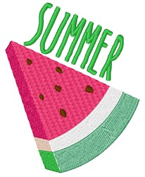 Summer Watermelon embroidery design