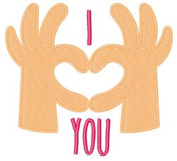 I Heart You embroidery design