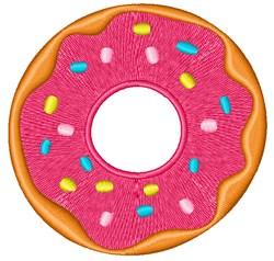 Sprinkle Donut embroidery design