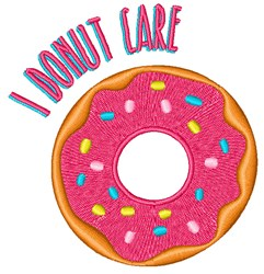 I Donut Care embroidery design