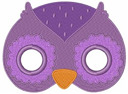 Owls Face embroidery design