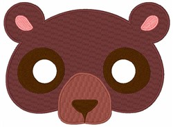 Bears Face embroidery design