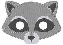 Raccoons Face embroidery design