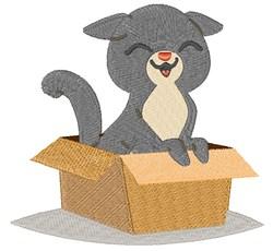 Kitten In Box embroidery design