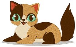 Calico Kitten embroidery design