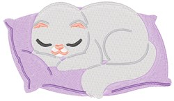 Sleeping Kitten embroidery design