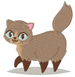 Cartoon Kitten embroidery design