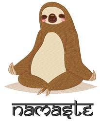 Namaste Sloth embroidery design