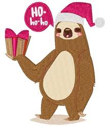 Christmas Sloth embroidery design