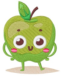Happy Face Apple embroidery design