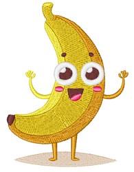 Happy Face Banana embroidery design