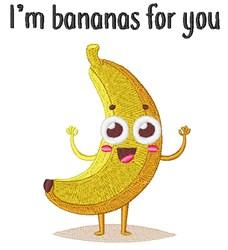Im Bananas For You! embroidery design