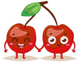 Happy Face Cherries embroidery design
