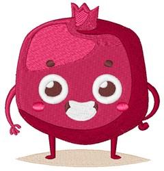 Happy Face Pomegranate embroidery design