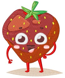 Happy Face Strawberry embroidery design