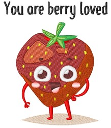 You Are Berry Loved embroidery design